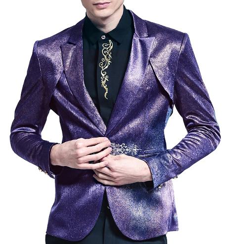 Shimmering Purple Blazer