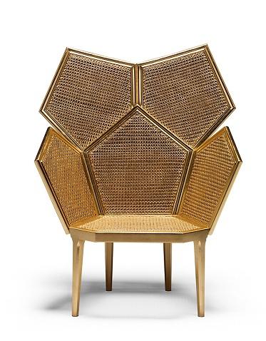 Leaf Made Cane Chair