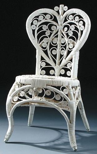 Heart Back Cane Chair