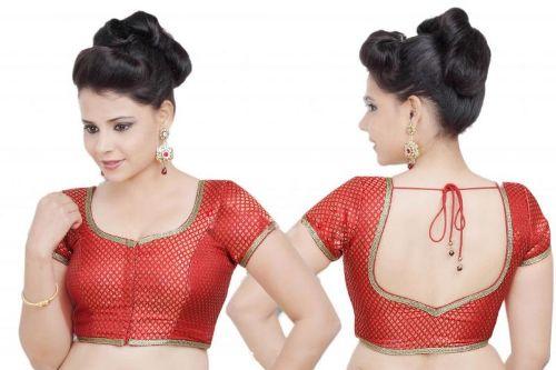 Red Blouse Designs-Maharashtrian Red Blouse Design 3