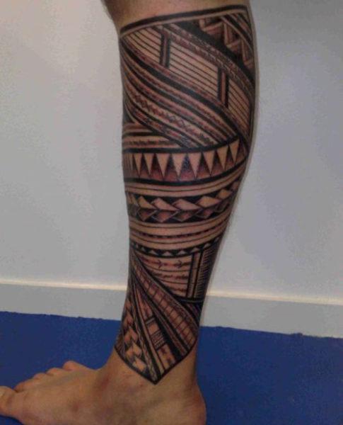 Leg Tribal Tattoo
