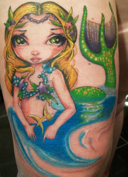 Mermaid Fairy Tattoo