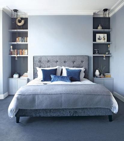 Blue Designed couple Bedroom