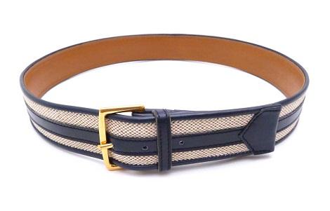 Canvas Men's Belt From Hermes