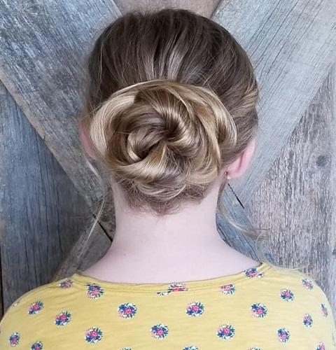 Twisted Bun for Long Straight Hair