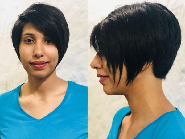Side Pixie Short Haircut