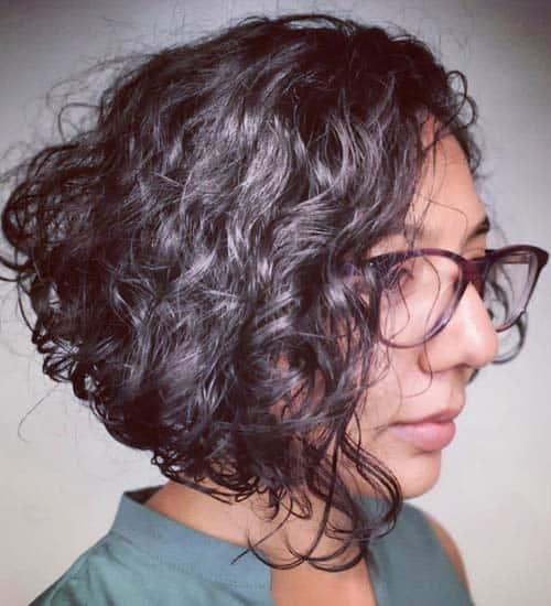 Curly Short Bob Indian Haircut