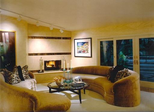 Art deco living room furniture