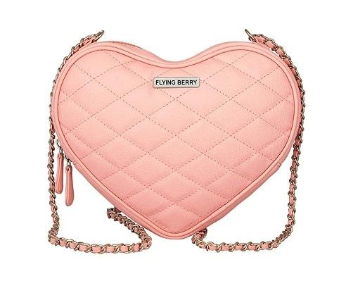 Heart Shape Side Bag For Teens