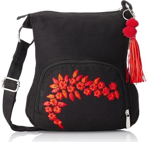 Embroidered Side Bag