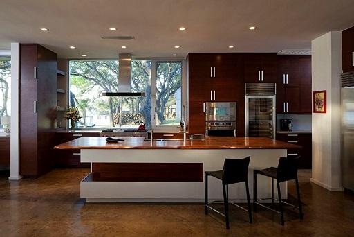 Wooden Designed Open kitchen design