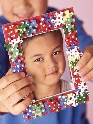 Puzzle Decorating Photo Frames