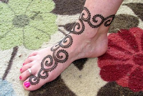 Spiral Design for Feet