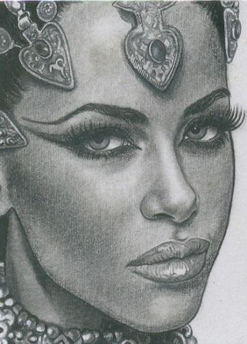 Sensual Black Queen Tattoo Design