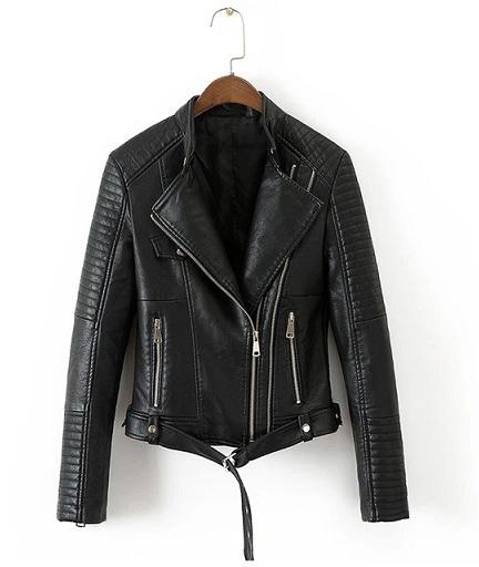 Faux Leather Blazer Women
