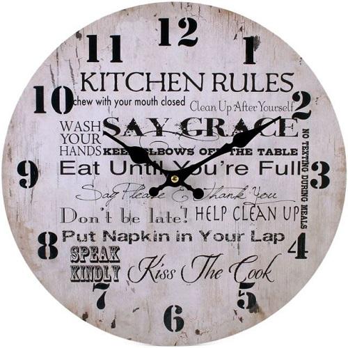 Rustic Kitchen Clock