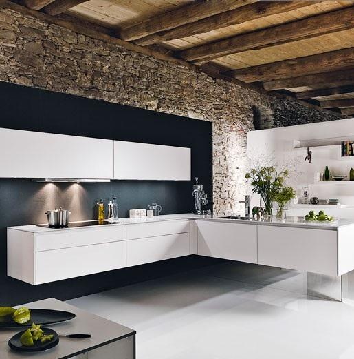 Floating L-Shaped Kitchen Design
