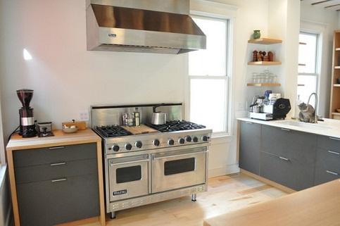 Broken L-shaped Open Kitchen Design