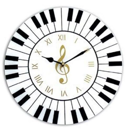 Round Music Clock