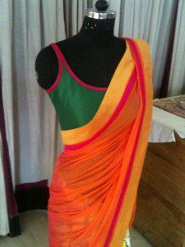 Sleeveless Blouse Designs-The Sleeveless Green Blouse 6