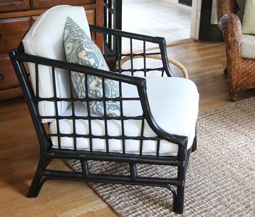 Black Bamboo Arm Chair