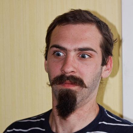 Handlebar and Chin Puff Beard