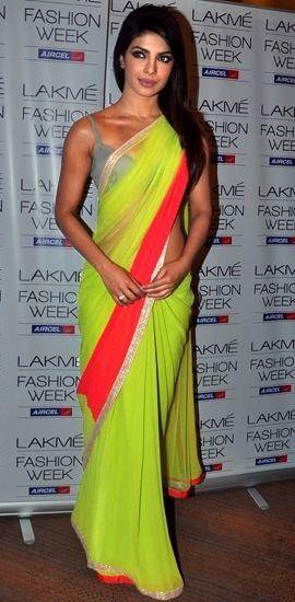 The neon saree