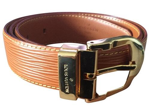 Wooden Design Leather Belt
