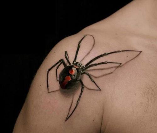 A 3d black widow spider