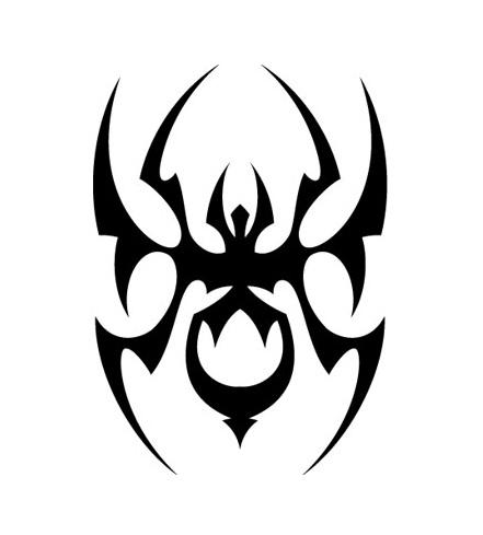 malaysian-tribal-spider-tattoo
