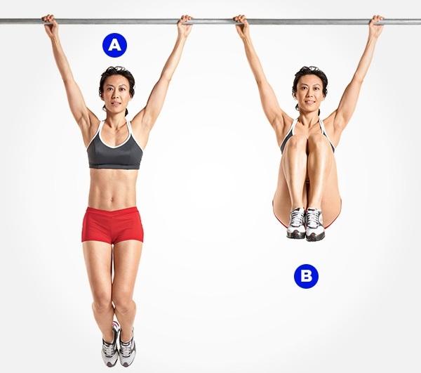 Hanging Leg Raises - best exercise for love handles