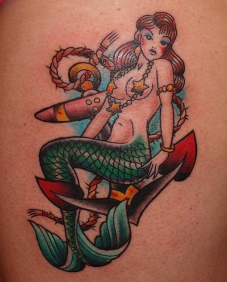Colorful Mermaid Tattoo