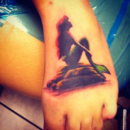Small Mermaid Tattoo