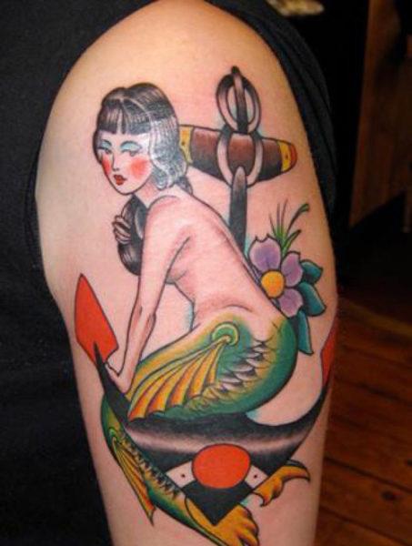 Japanese Mermaid Tattoo