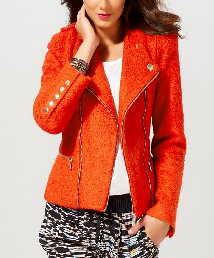Orange Wool Blazer Women