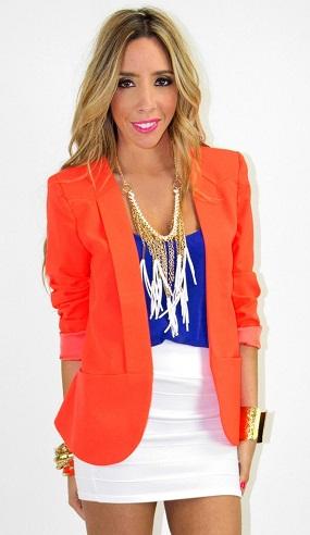 Boyfriend Orange Blazer