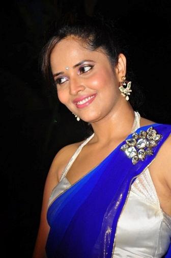 Anchor Anasuya Hot Saree Stills at DK Bose Audio Launch