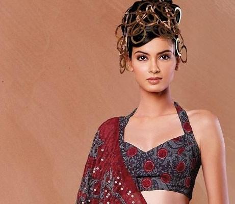 Halter neck blouse designs1