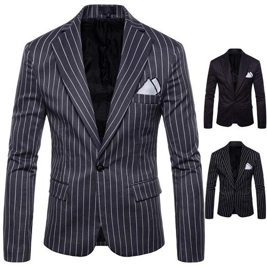 Mens Striped Summer Blazer