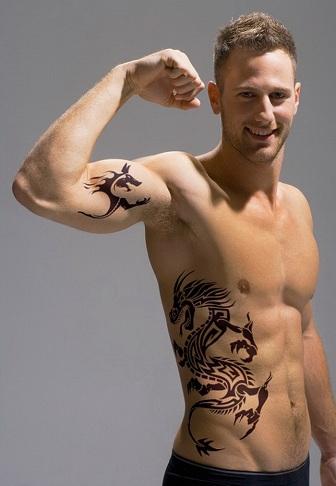 V line Work Tattoos