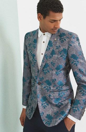 Silk Floral Blazer For Men