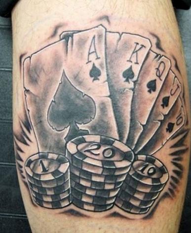 Poker Card Tattoos design