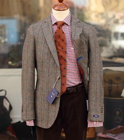 Unstructured Tweed Blazer Men