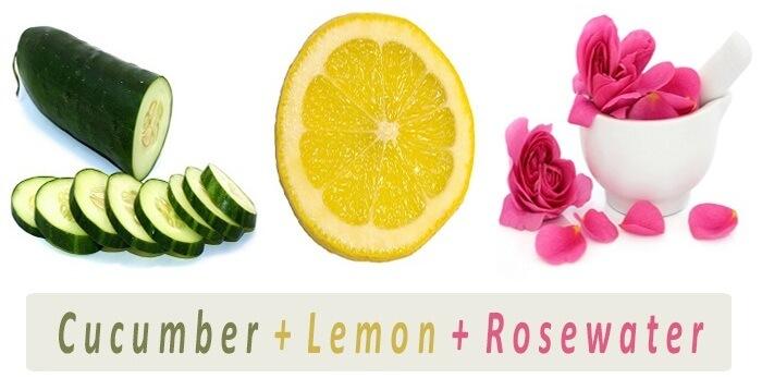 Lemon Cucumber And Rose Water