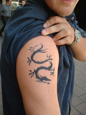 Black Airbrush Tattoos