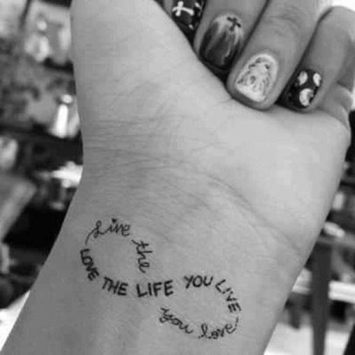 Airbrush Infinity Tattoos