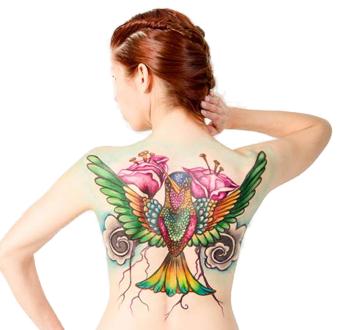 Hybrid Body Airbrush Tattoos