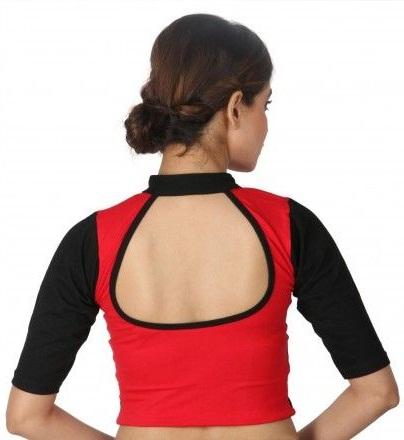 Dual Color Stretchable Blouse