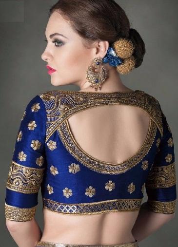 Blouse back neck designs for pattu sarees10