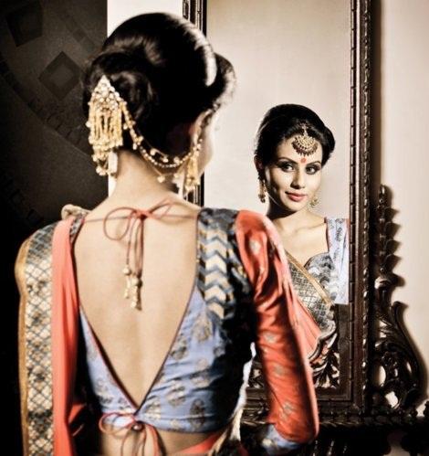 Blouse back neck designs for pattu sarees5
